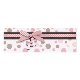 Etiqueta flaca del regalo del chica tarjeta de negocio