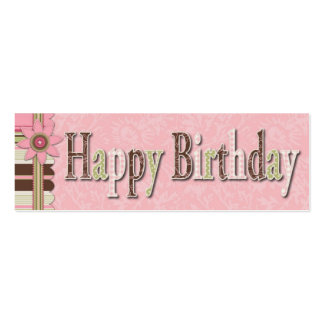 Etiqueta flaca del regalo del cumpleaños del chica tarjetas de visita mini