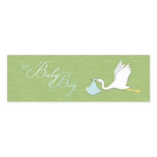 Etiqueta flaca del regalo del muchacho de entrega  tarjeta de visita