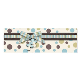 Etiqueta flaca del regalo del muchacho tarjetas de visita mini