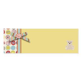 Etiqueta flaca del regalo del oso del oso plantilla de tarjeta de negocio