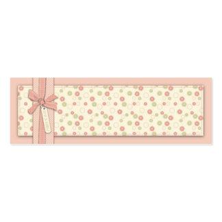 Etiqueta flaca floral del regalo del chica bonito tarjetas personales