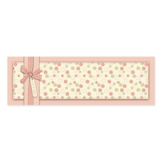 Etiqueta flaca floral del regalo del chica bonito tarjetas de visita mini