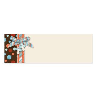 Etiqueta flaca OBB 2 del regalo del muchacho Plantillas De Tarjetas De Visita