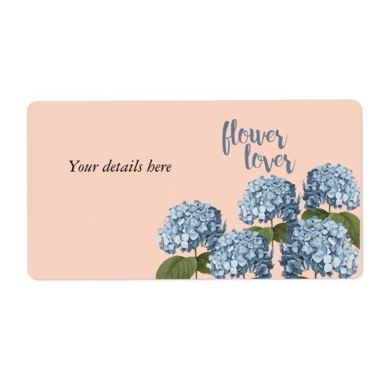 Etiqueta floral del amante de la flor etiquetas de envío