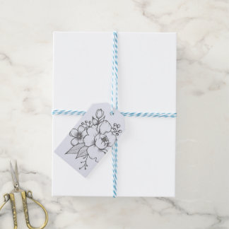 Etiqueta floral del regalo