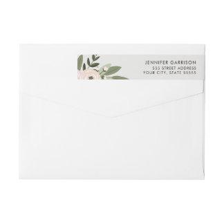 Etiqueta floral del remite de las puntillas del etiquetas envolventes de remitente