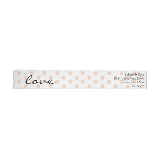 Etiqueta floral del remite del boda de la acuarela
