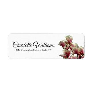 Etiqueta Floral moderno elegante minimalista blanco de las