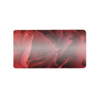 Etiqueta Floral rojo