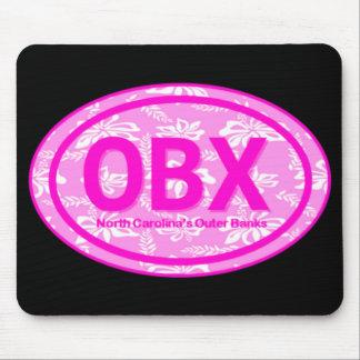 Etiqueta floral rosada Mousepad de la playa de OBX Alfombrilla De Ratones