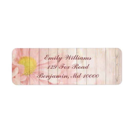 Etiqueta Floral rosado precioso
