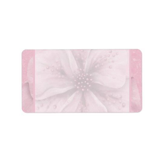 Etiqueta Floral rosado suave