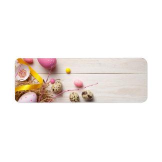 Etiqueta Fondo de Pascua con los huevos de Pascua