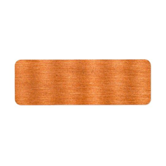 Etiqueta Fondo ondulado de cobre pulido de la textura