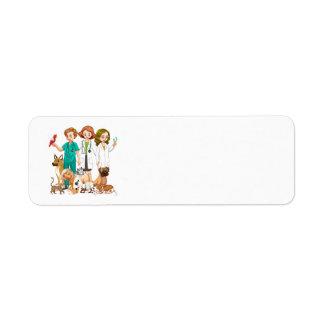 Etiqueta Fondo veterinario de la gente