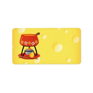 """Etiqueta """"fondue"""" de queso"""