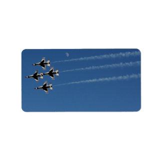 Etiqueta Formación de diamante de los Thunderbirds F-16