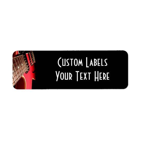 Etiqueta Foto roja de la guitarra eléctrica - PERSONALICE