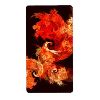 Etiqueta Fractal del arte abstracto de Firebirds del baile