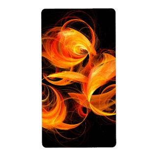 Etiqueta Fractal del arte abstracto de la bola de fuego