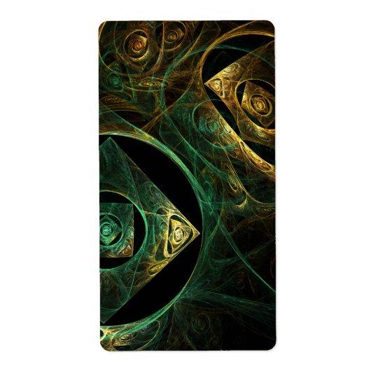 Etiqueta Fractal mágico del arte abstracto de las