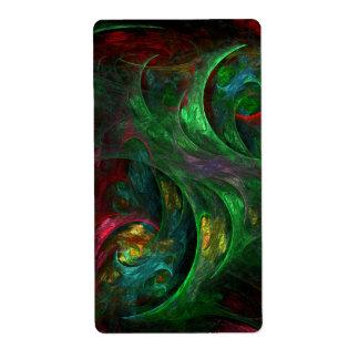 Etiqueta Fractal verde del arte abstracto de la génesis