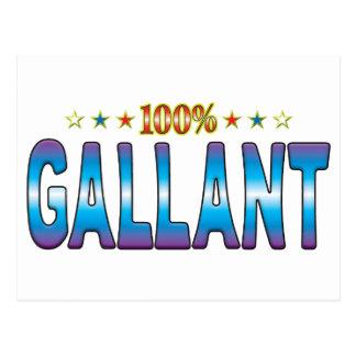 Etiqueta galante v2 de la estrella postal