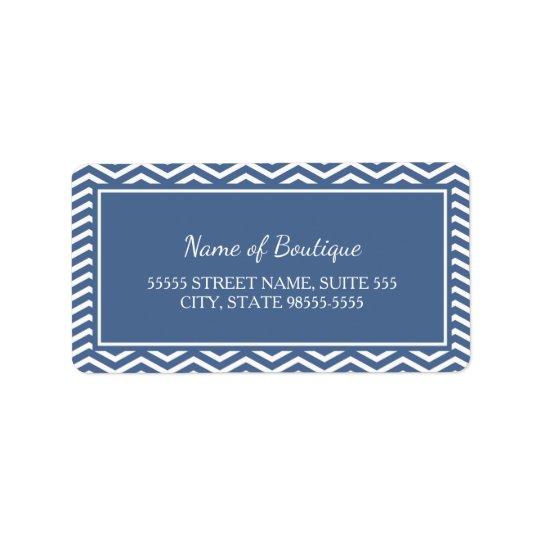 Etiqueta Galones elegantes del azul de la pizarra