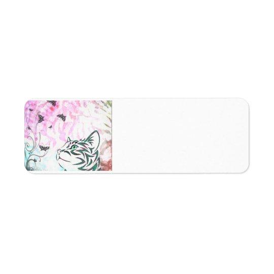 Etiqueta Gato colorido