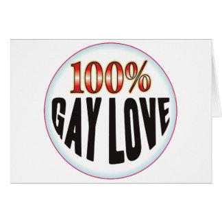 Etiqueta gay del amor tarjeta