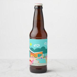Etiqueta gay retra de la botella de cerveza de la