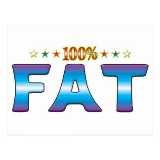 Etiqueta gorda v2 de la estrella postal