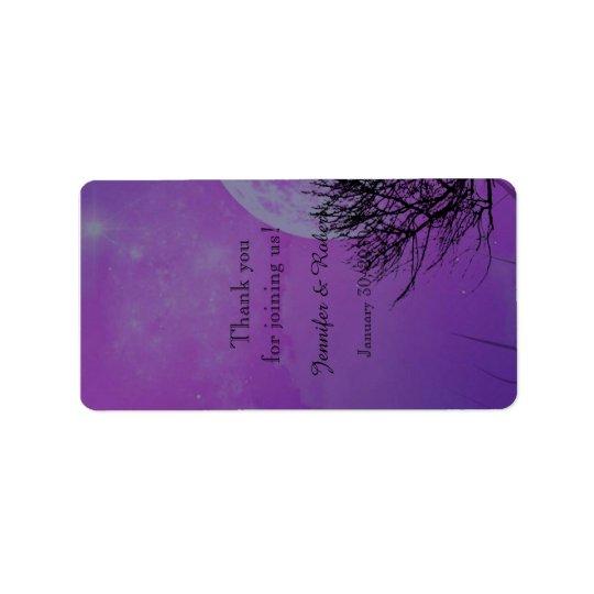 Etiqueta gótica púrpura elegante del protector etiquetas de dirección