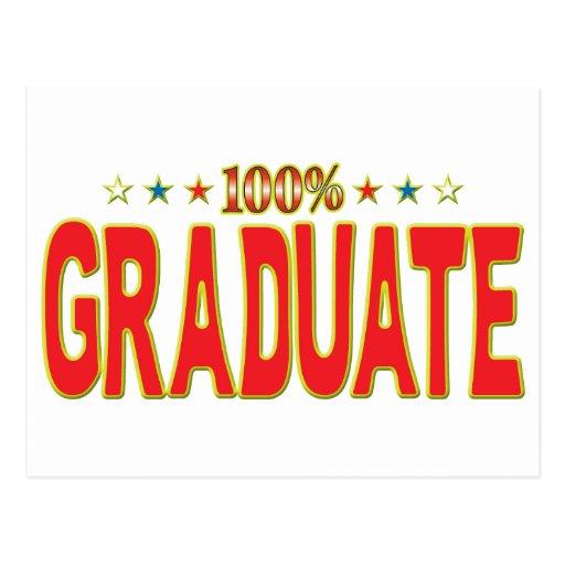 Etiqueta graduada de la estrella tarjeta postal