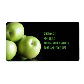 Etiqueta grande de las manzanas verdes etiquetas de envío