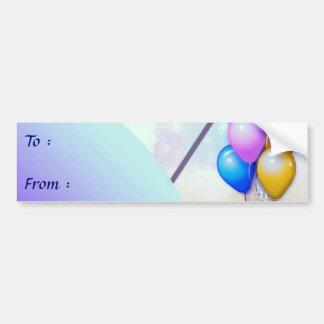 Etiqueta grande del regalo del cumpleaños pegatina para coche