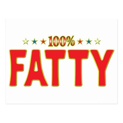 Etiqueta grasa de la estrella tarjetas postales