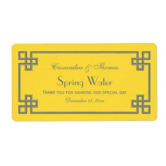 Etiqueta griega de la botella de agua de la llave etiqueta de envío