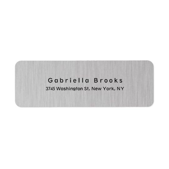 Etiqueta Gris de plata único elegante llano moderno
