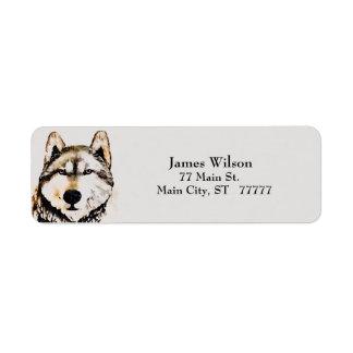 Etiqueta Gris del lobo