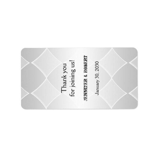 Etiqueta gris goteada del protector labial del etiqueta de dirección