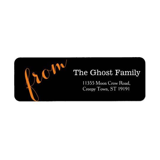 Etiqueta Halloween personalizado sea asustadizo