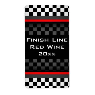 Etiqueta hecha en casa del vino del diseño a cuadr etiqueta de envío