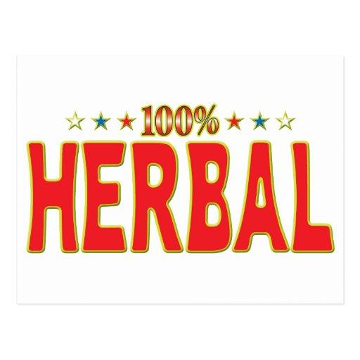Etiqueta herbaria de la estrella postal