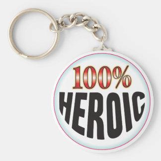 Etiqueta heroica llavero
