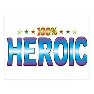 Etiqueta heroica v2 de la estrella tarjeta postal