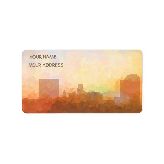 Etiqueta HORIZONTE de AUGUSTA, GEORGIA - tarjetas del