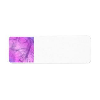 Etiqueta humo púrpura