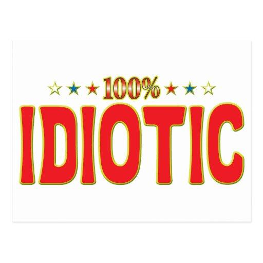 Etiqueta idiota de la estrella postal